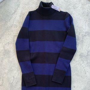 J. Crew Knit Turtleneck Knee length stripe dress